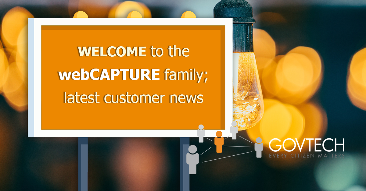 Welcome to the webCAPTURE family; latest customer news